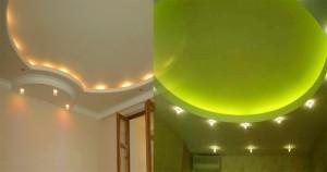 Дизайнерские решения относительно натяжных потолков