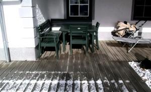 Подготовка террасы к зиме