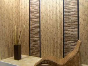 Сделайте наклейку бамбуковых обоев